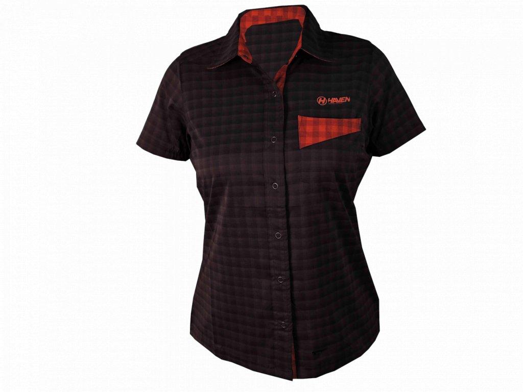 Košile HAVEN AGNESS Slimfit women black/red