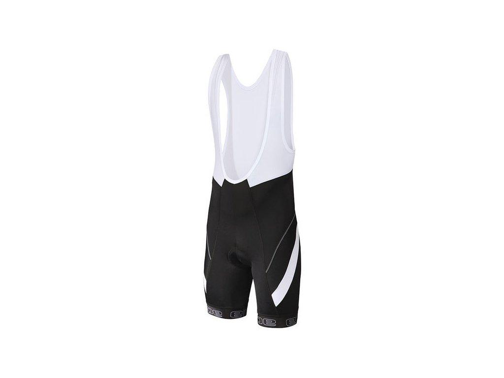 Etape - pánské kalhoty Profi lacl s vložkou, černá/bílá