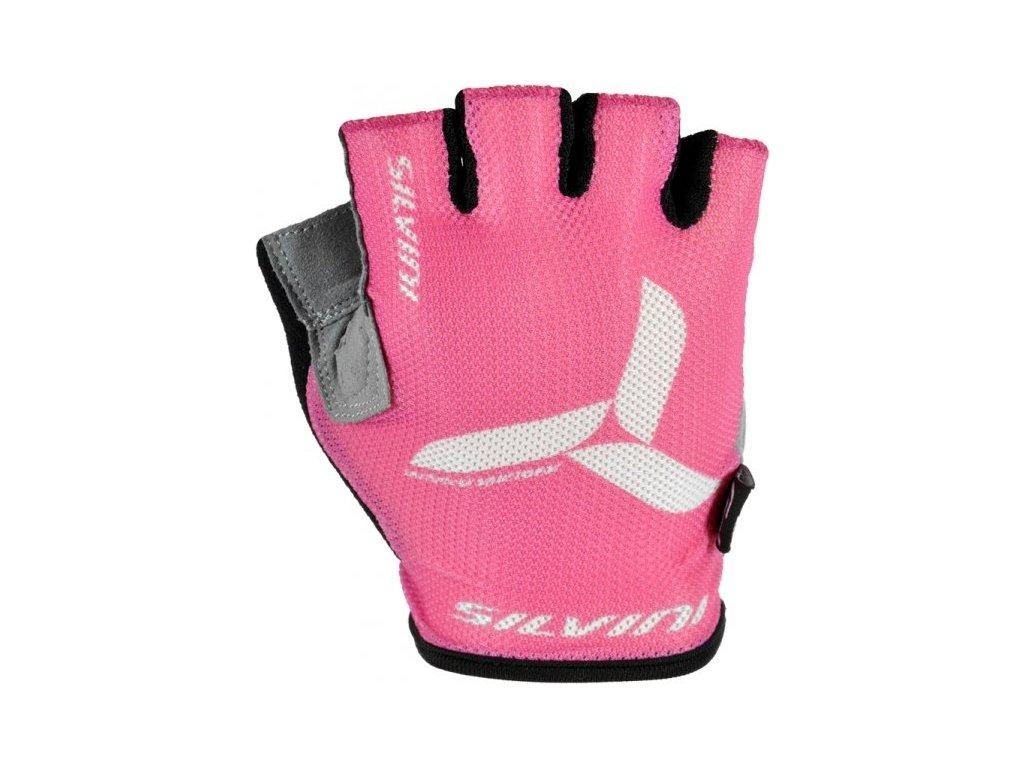 SILVINI dětské rukavice TEAM UA405 dark pink