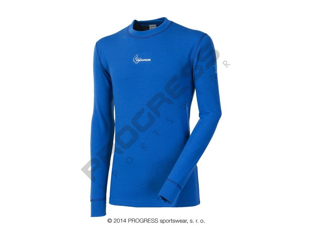 Progress WS TDR pánské termoprádlo s dlouhým rukávem modrá
