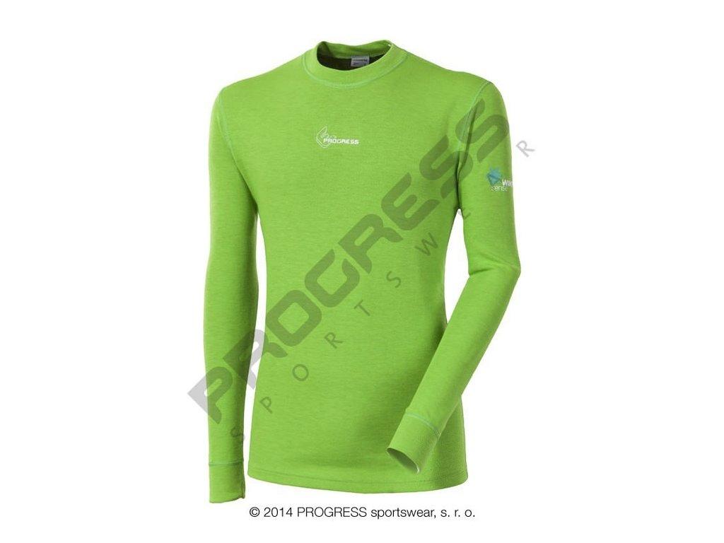 Progress WS TDR pánské termoprádlo s dlouhým rukávem zelená