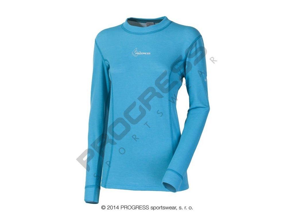 Progress WS TDRZ dámské termoprádlo s dlouhým rukávem modrá