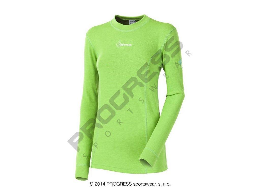 Progress WS TDRD dětské termo triko s dlouhým rukávem zelená