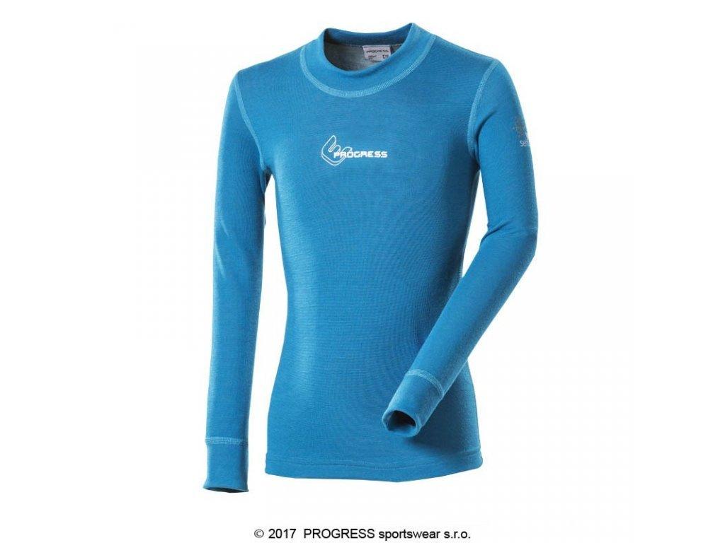 Progress WS TDRD dětské termo triko s dlouhým rukávem modrá