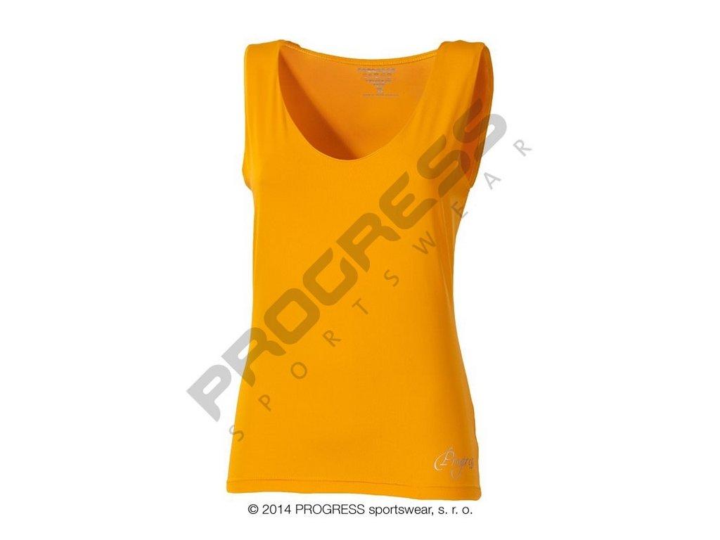 Progress OLI dámské sportovní fitness tílko oranžová