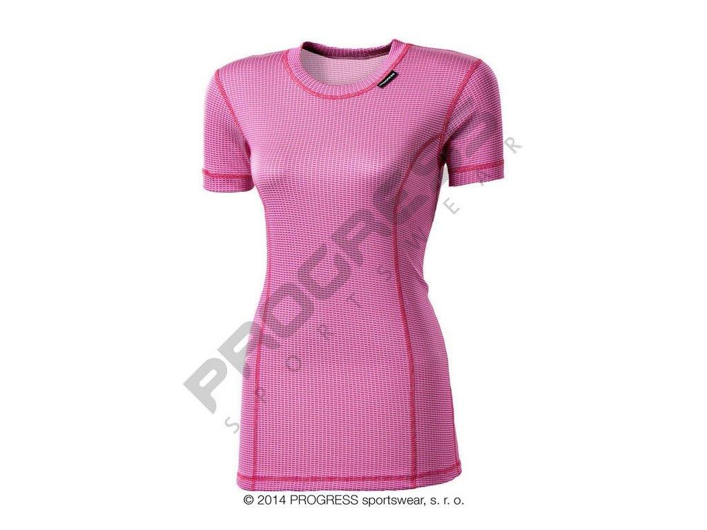 Progress MS NKRZ dámské funkční tričko krátký rukáv růžová