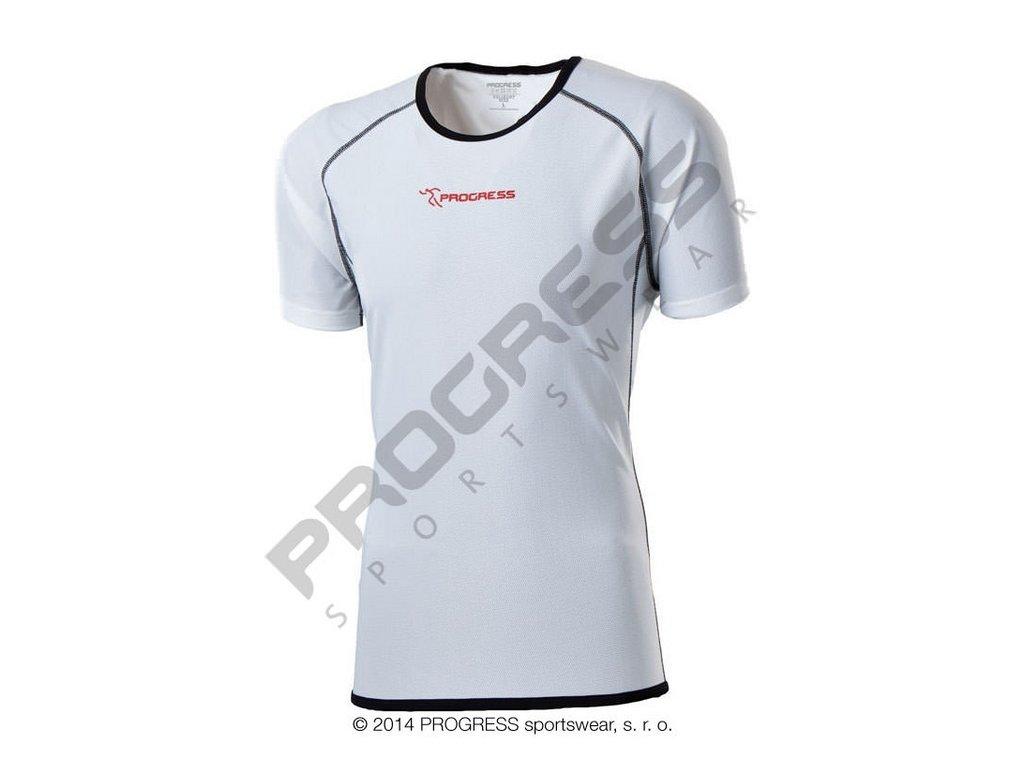Progress FASTER pánské funkční běžecké triko bílá