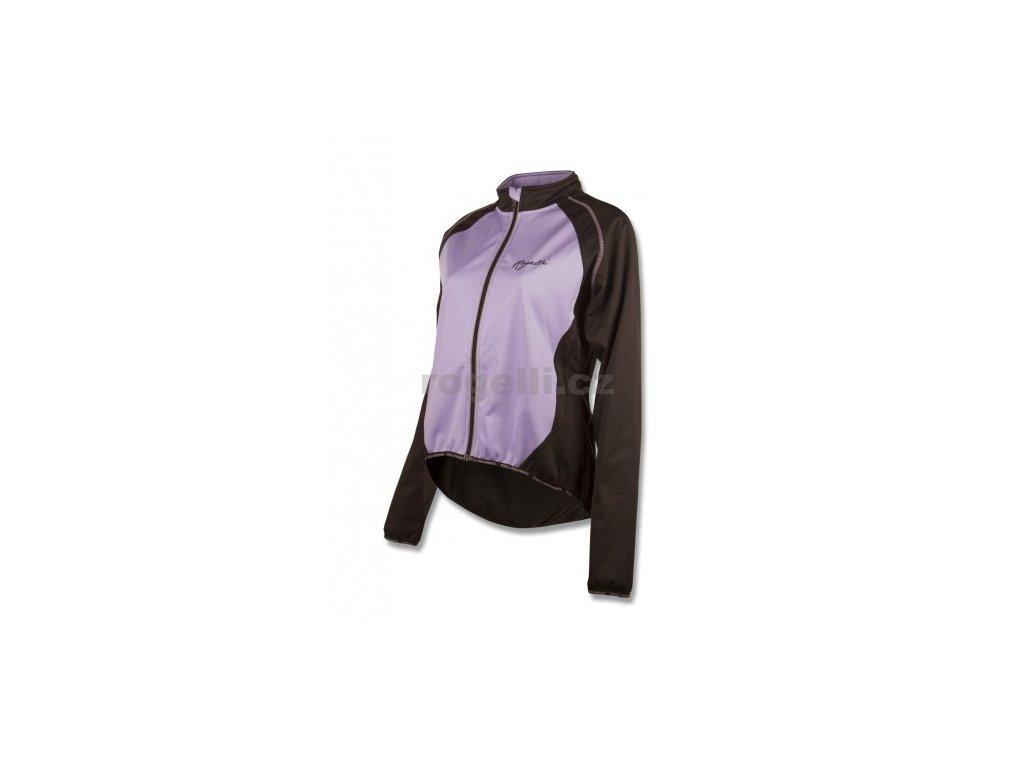 Dámská softshellová bunda Rogelli BICE, černo-fialová