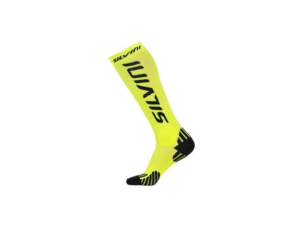 SILVINI kompresní ponožky CASALONE UA562 neon -black