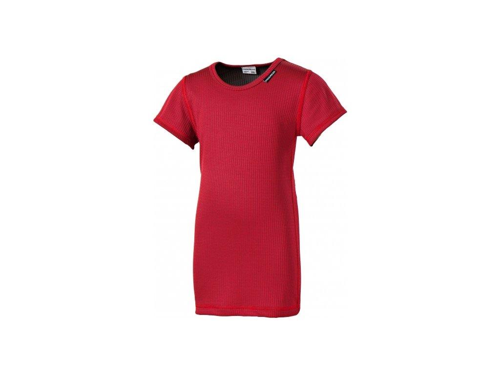 MS NKRD dětské funkční tričko s krátkým rukávem bordo
