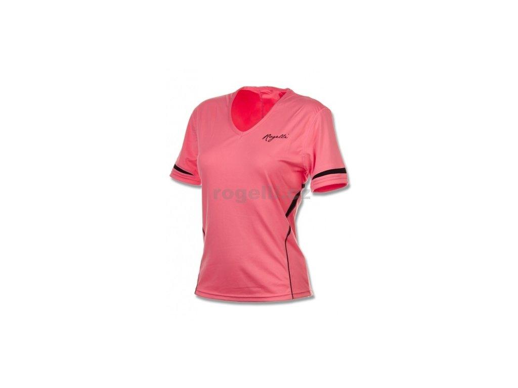 Dámské fitness tričko Rogelli FABRIZIA, růžové
