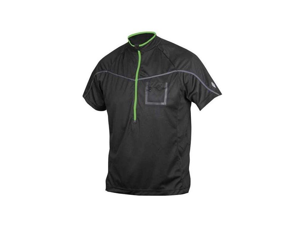 volný dres ETAPE Polo -černá/zelená