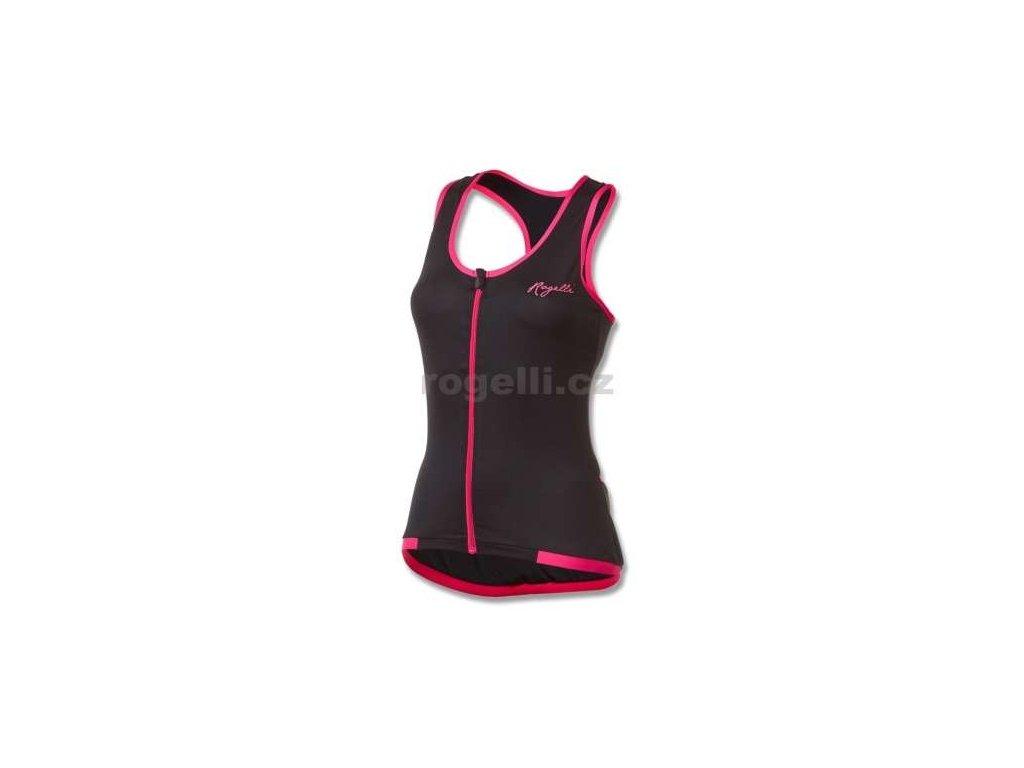 Dámské sportovní tílko Rogelli ABBEY, černo-růžové