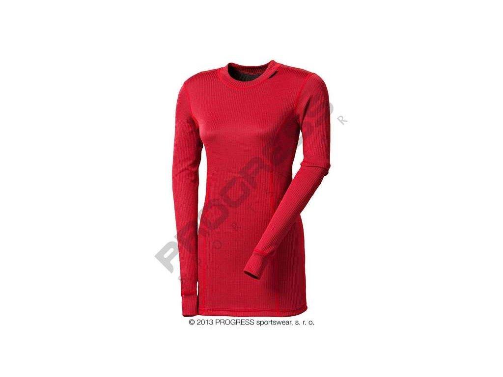 PROGRESS MS NDRZ dámský dlouhý rukáv červená