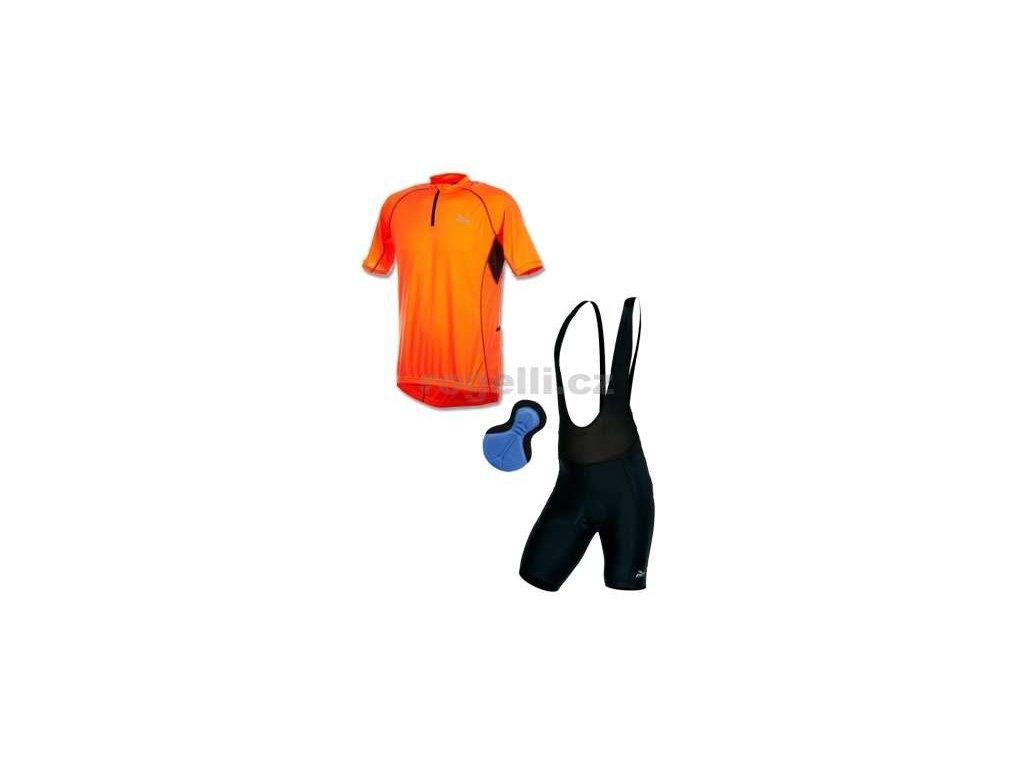 Cyklo oblečení Rogelli PERUGIA, oranžové