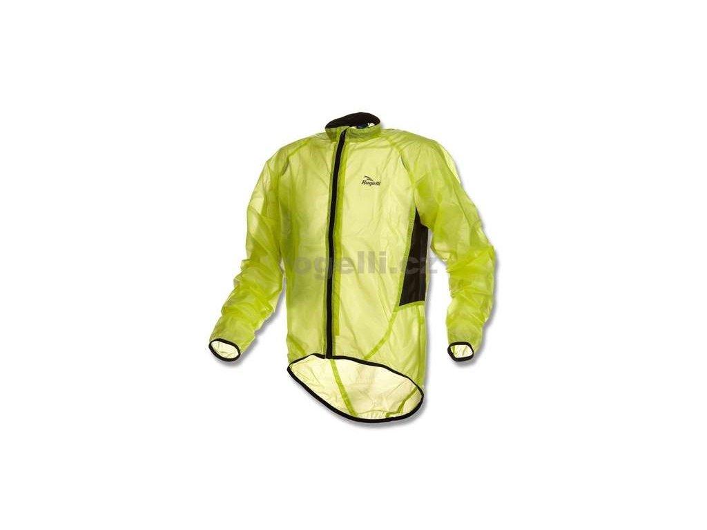 Voděodolná cyklo větrovka Rogelli CROTONE, reflexní žlutá