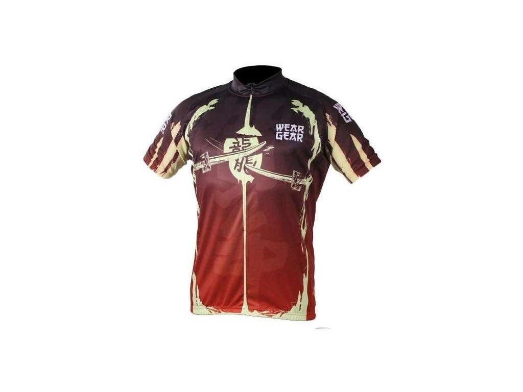 cyklistický dres Wear Gear Samurai Red