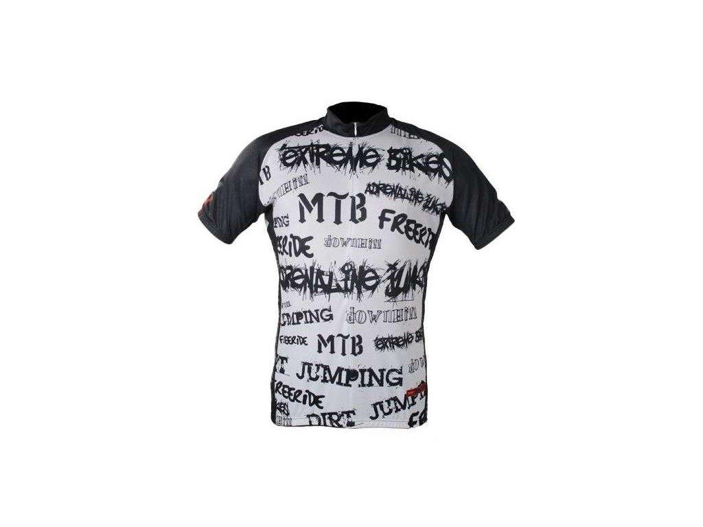 cyklistický dres Wear Gear Adrenaline white