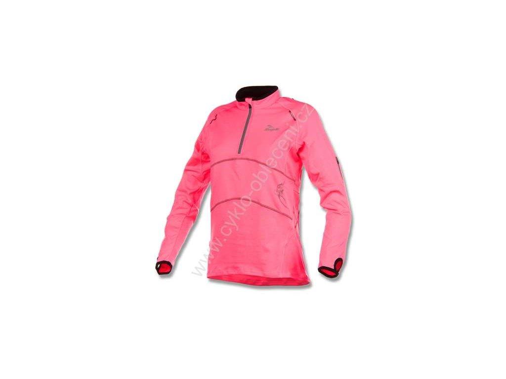Dámská sportovní mikina Rogelli MAE, reflexní růžová
