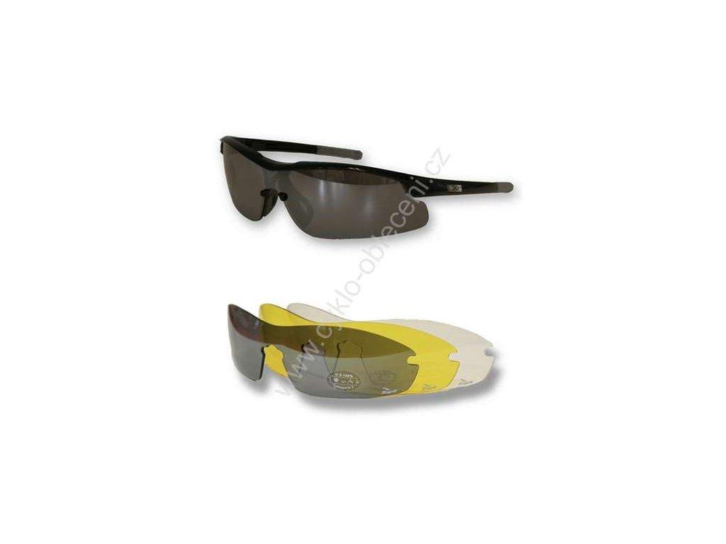 Sportovní cyklistické brýle Rogelli SKYLINE - černé