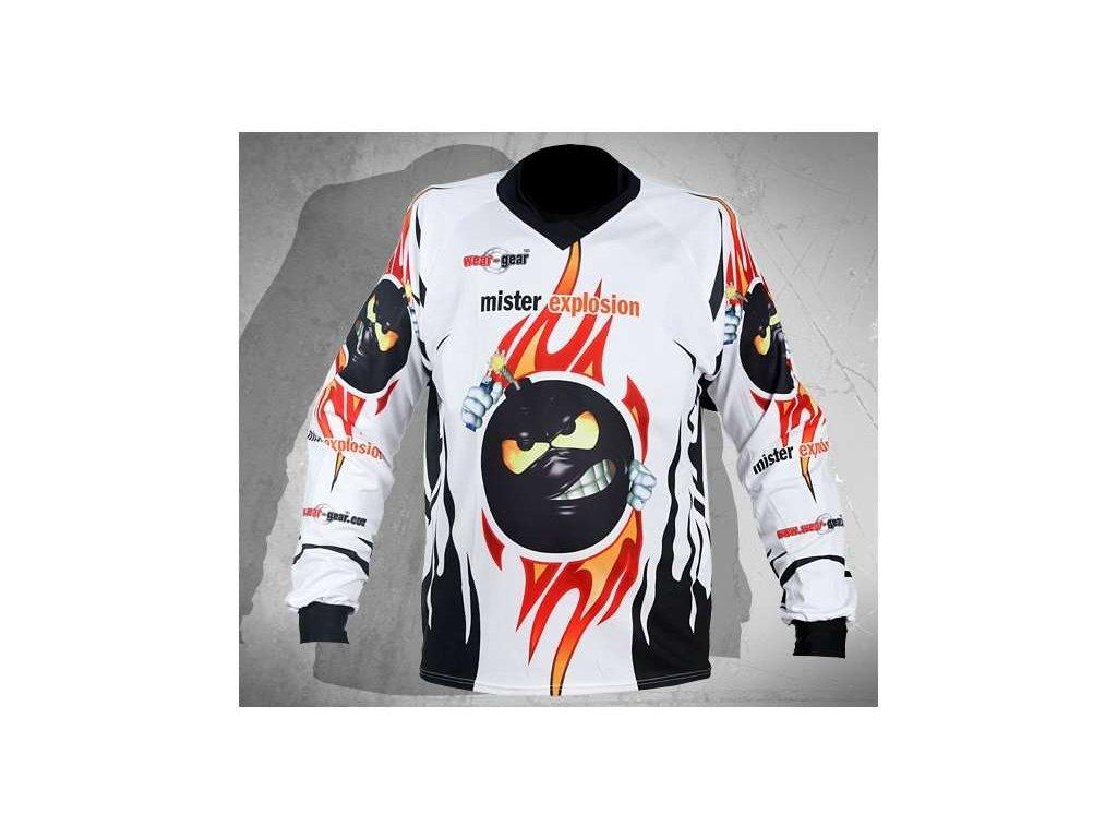 Wear Gear FR/DH dres Mr. Explosion White