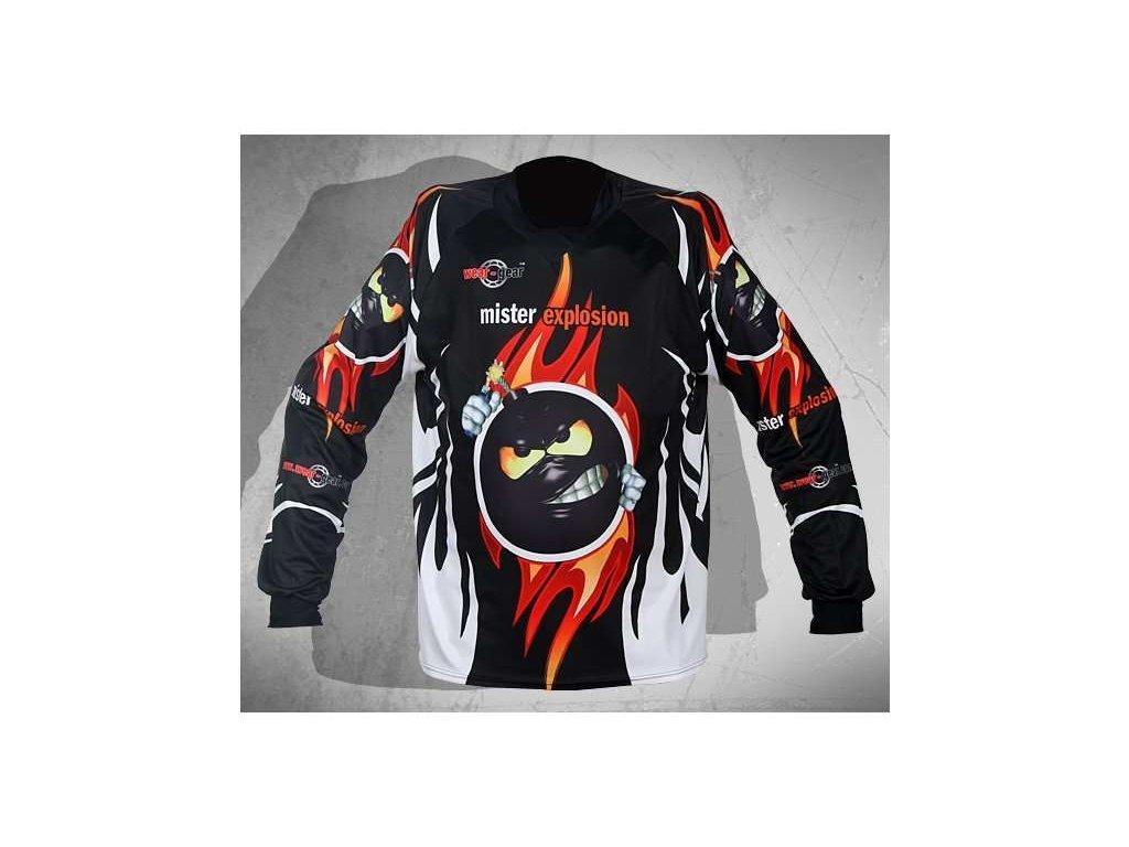 Wear Gear FR/DH dres Mr. Explosion Black