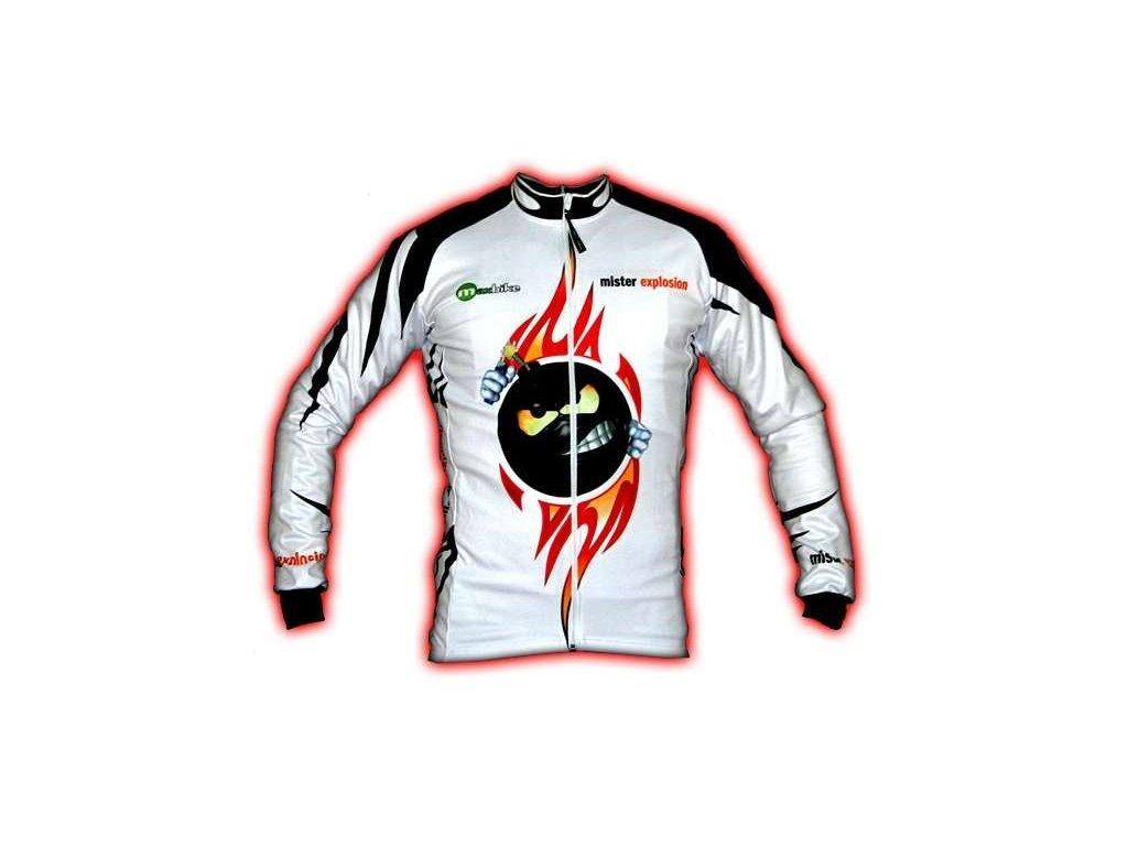 Wear Gear dres Mr. Explosion White s dlouhým rukávem