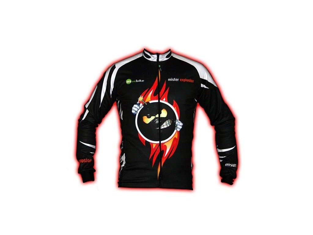 Wear Gear dres Mr. Explosion Black s dlouhým rukávem