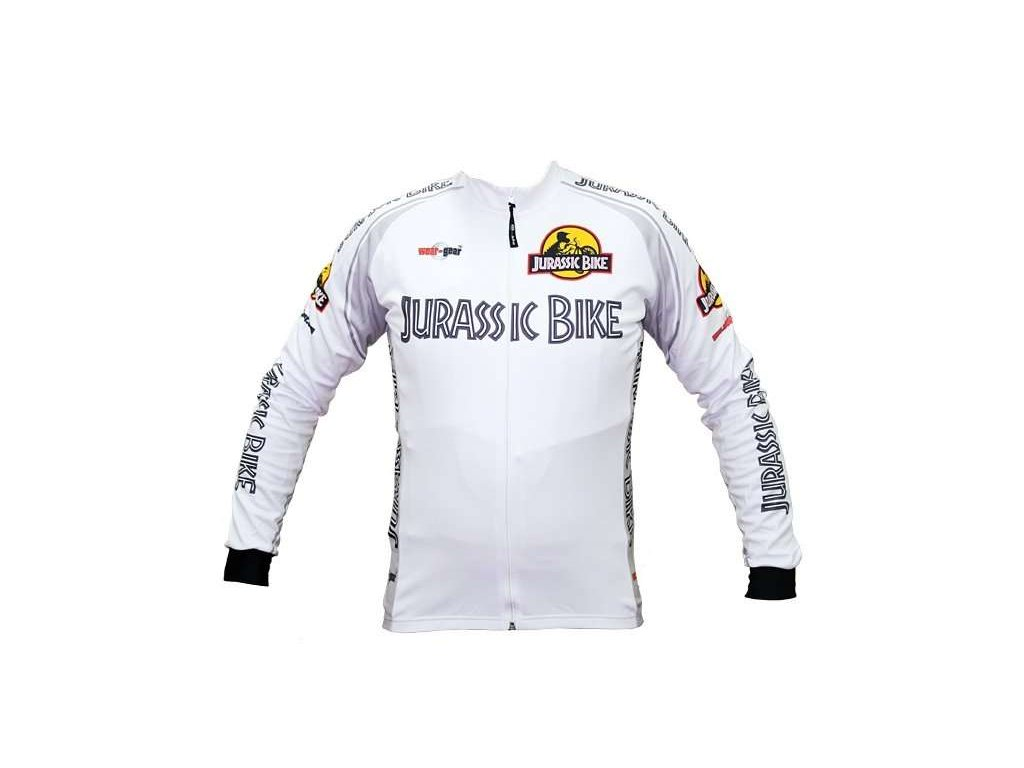 Wear Gear dres Jurassic Bike White s dlouhým rukávem