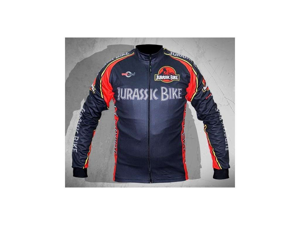 Wear Gear dres Jurassic Bike Black s dlouhým rukávem