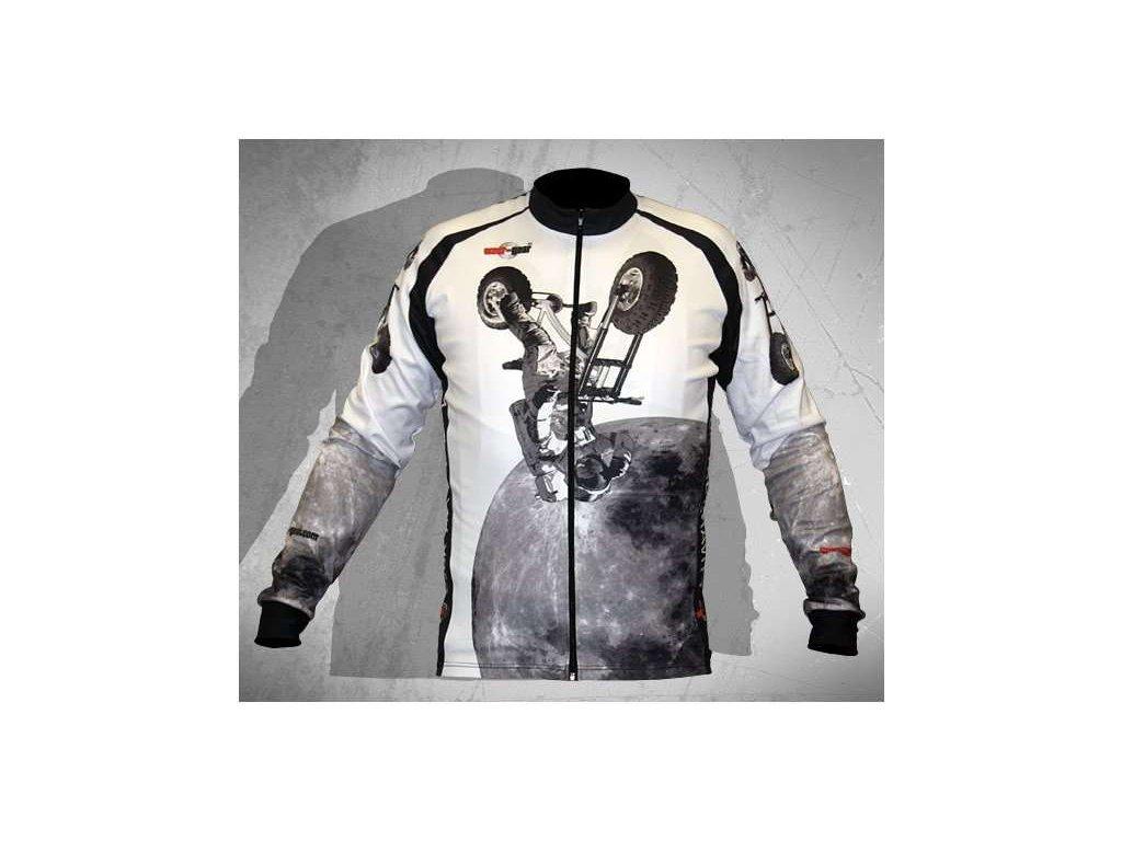 Wear Gear dres Fuck The Gravity White s dlouhým rukávem