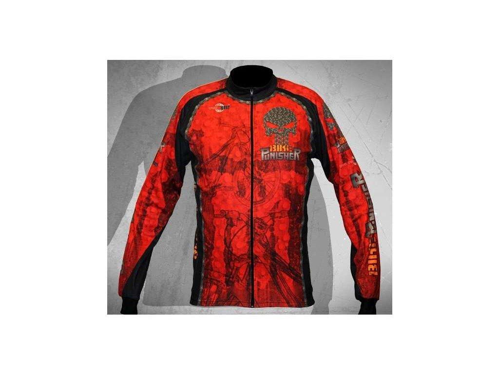 Wear Gear dres Bike Punisher Red s dlouhým rukávem