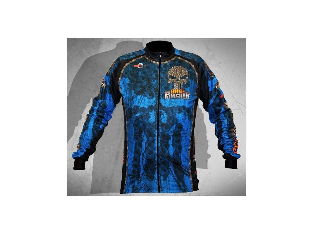 Wear Gear dres Bike Punisher Blue s dlouhým rukávem