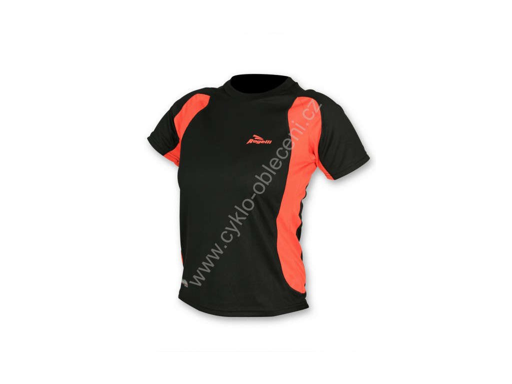 Rogelli dámské sportovní funkční tričko VIRGINIA, černo-korálová