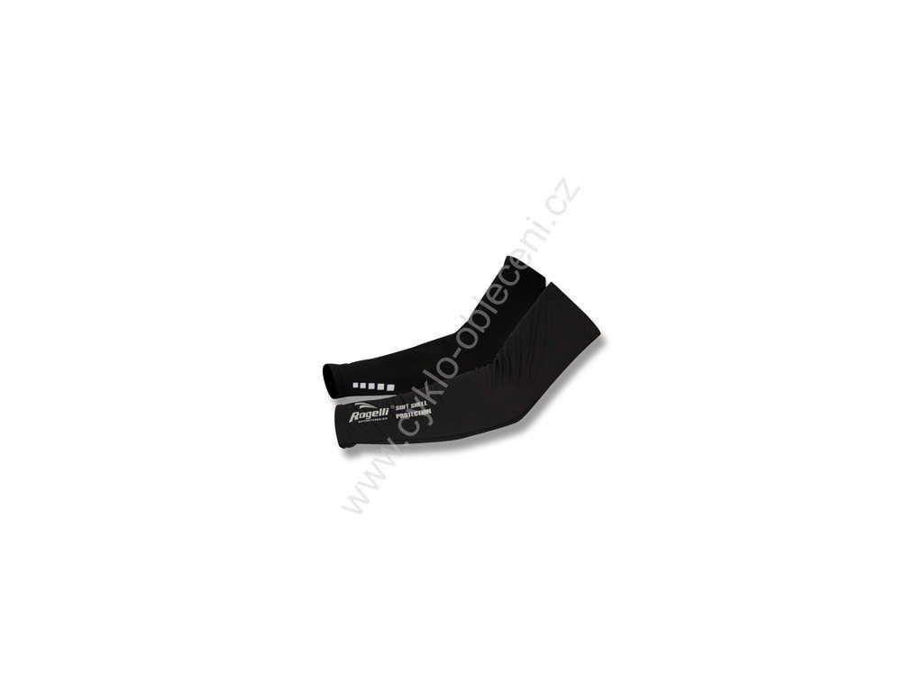 Rogelli cyklistické softshellové rukávy, černé