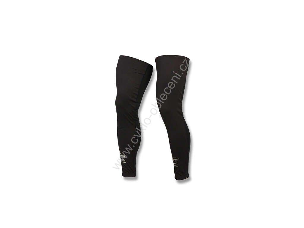 Rogelli cyklistické návleky na nohy softshellové nohavice, černé