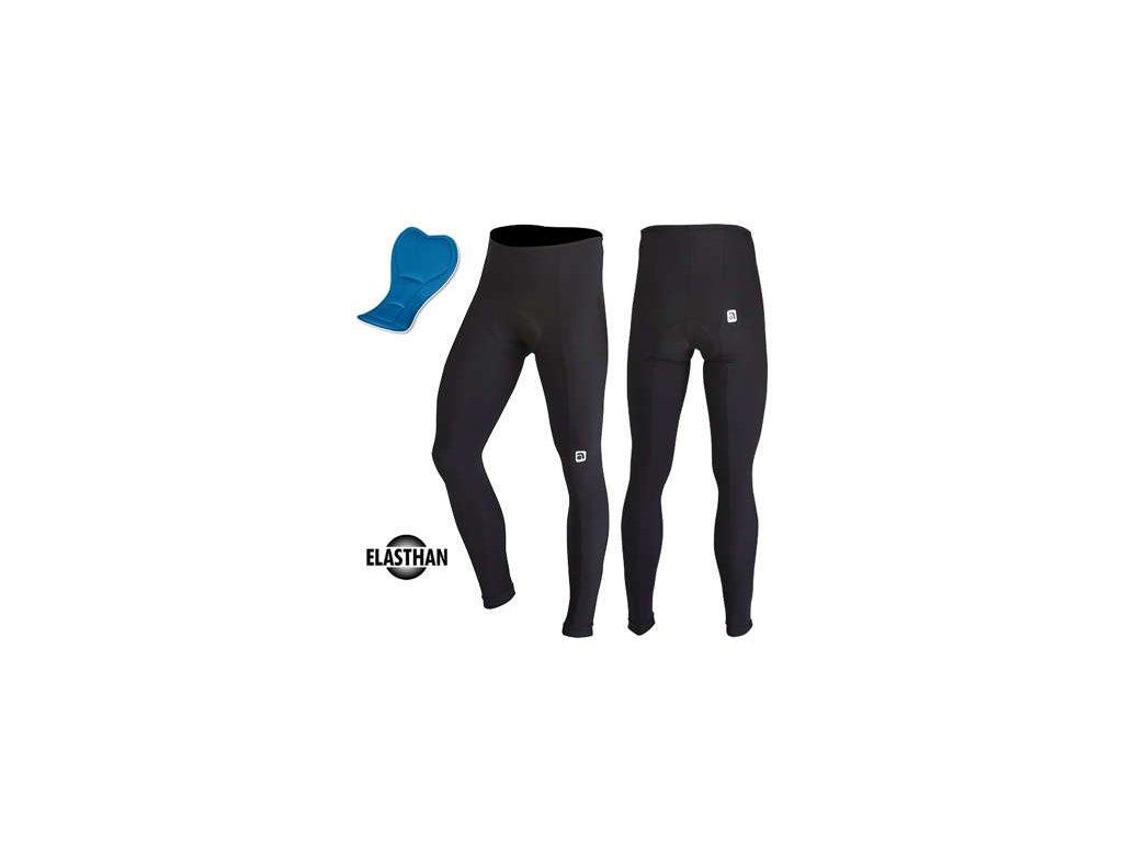 Kalas Cyklistické kalhoty Čapáky ELASTHAN černé + sedlo COMFORT