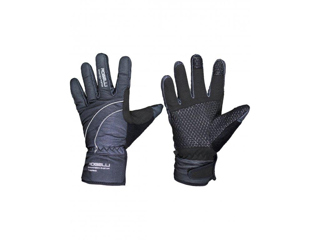 zimni membranove rukavice s protiskluzovou dlani rogelli valdez cerne original