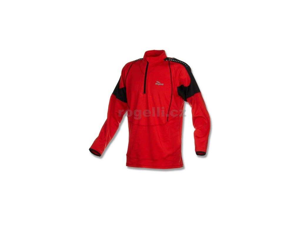 Sportovní mikina Rogelli POSEIDON, červeno-černá
