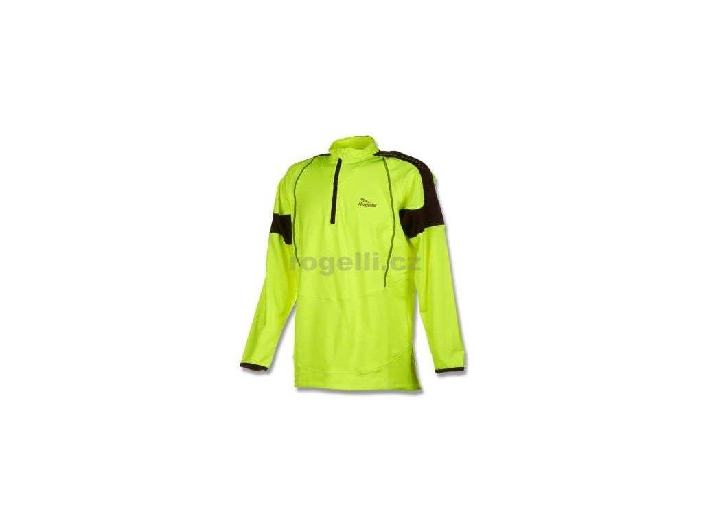 Sportovní mikina Rogelli POSEIDON, reflexní žlutá-černá