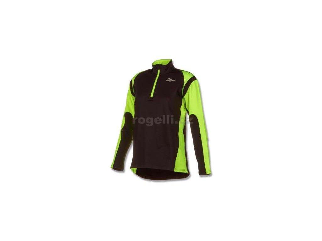 Dámská sportovní mikina Rogelli ELKA, černo-reflexní žlutá