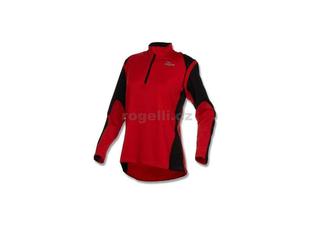 Dámská sportovní mikina Rogelli ELKA, červeno-černá
