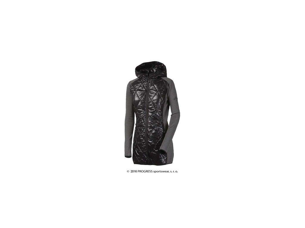 SILVRETTA dámský sportovní hybridní kabátek s kapucí - černá/šedá