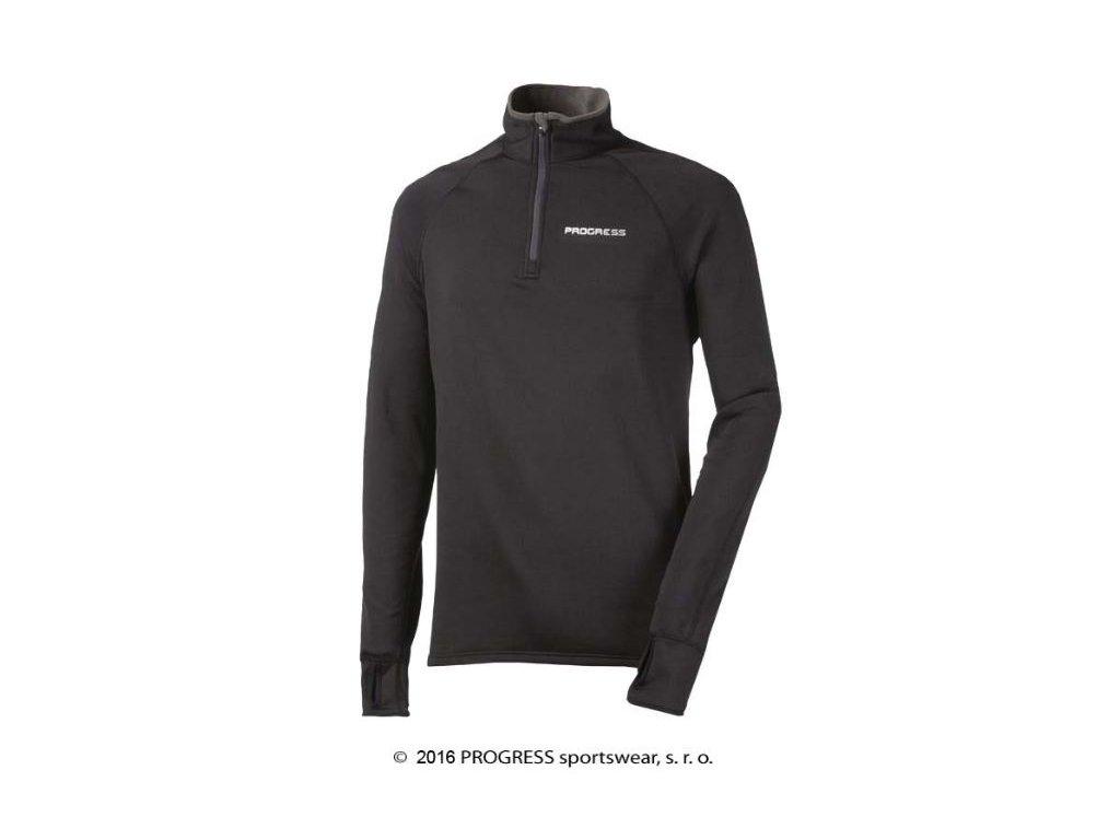 KAMIL pánský funkční sportovní pulovr - černá