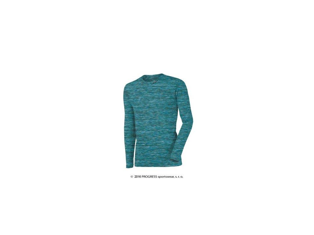 CHAOS pánské triko s dlouhým rukávem - modrá