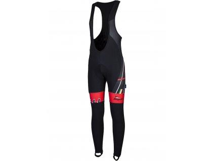 cyklo kalhoty rogelli gara mostro s gelovou cyklovystelkou cerno cervene original