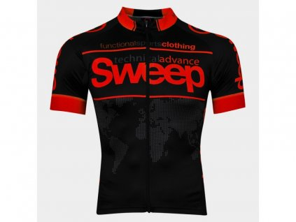 Cyklistický dres Sweep RACE D026 black/red