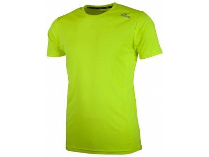 Sportovní funkční triko Rogelli BASIC z hladkého materiálu, reflexní žluté