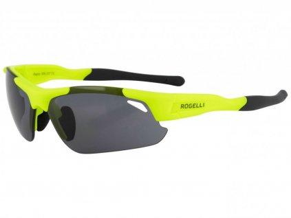 Cyklistické sportovní brýle Rogelli RAPTOR s výměnnými skly, reflexní žluté