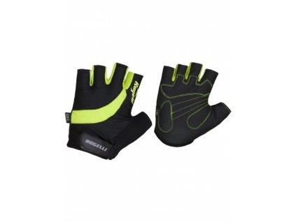 Cyklistické rukavice Rogelli STRADA, reflexní žluté